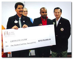 Annual Contribution to the Lions Club