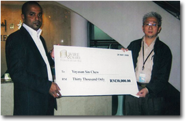Cash Donation to the Sin Chew Foundation