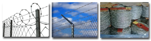 Chain Link Fences and Barbed Wire
